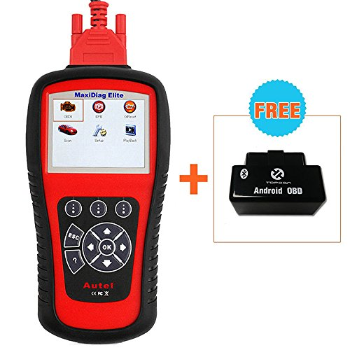 Autel MaxiDiag Elite MD802 OBDII/EOBD Scan Tool All Systems for Engine ABS SRS Transmission Body Powertrain Chassis with Oil reset and EPB Features