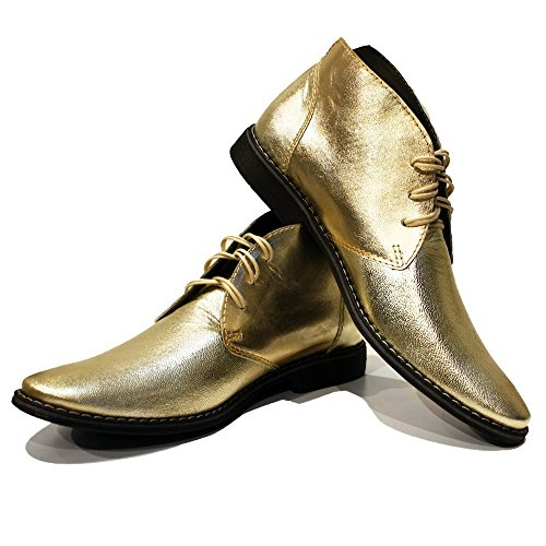 Modello Goldeno - 11 US - Handmade Italian Mens Gold Ankl...