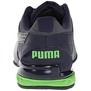 PUMA Men's Tazon 5 Ripstop Training Shoe, Turbulence/Peacoat/Fluorescent Green, 11 M US