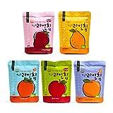 Cheap Korean Fruit Chips, Unsulfured, 100% Real Fruit, Non-GMO, Abishag, Product of Korea – Variety, All 5 fruits (5 x 0.5 oz)