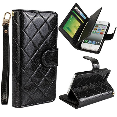 Vogue shop Leather Case with Wallet Compatible with Apple iPhone 5/5S/SE ,Wallet Case,imported-PU Leather Case ,Cash,Credit Card Holder,Flip Cover Skin for iPhone 5/5S/SE