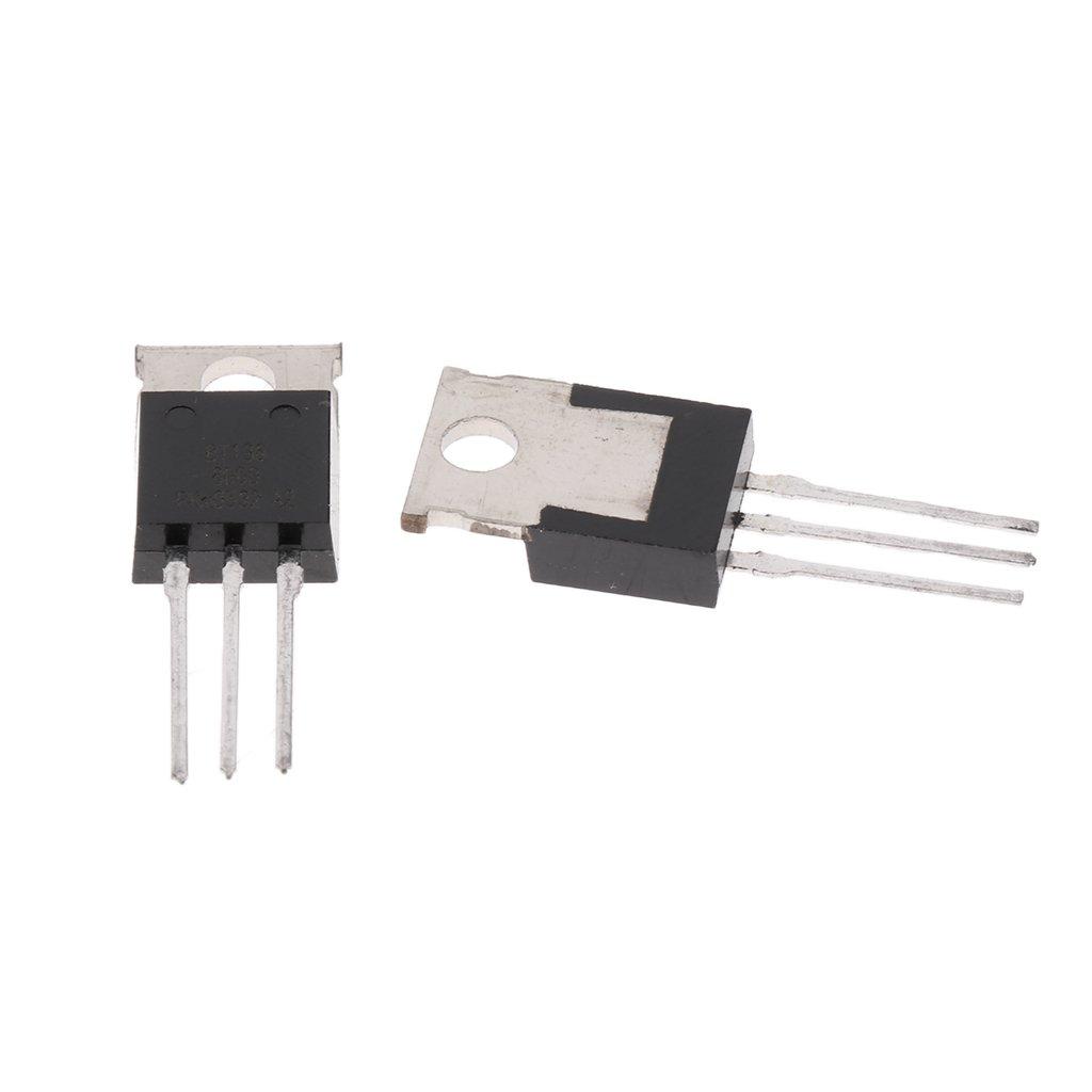Almencla 5X BT136 Transistor 600V Triac 4A A-220 De Regulador Lavadora Control Motor
