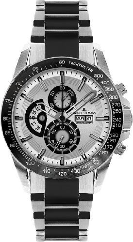 Jacques Lemans Men's 1-1635F Liverpool DayDate Sport Analog with DayDate Watch