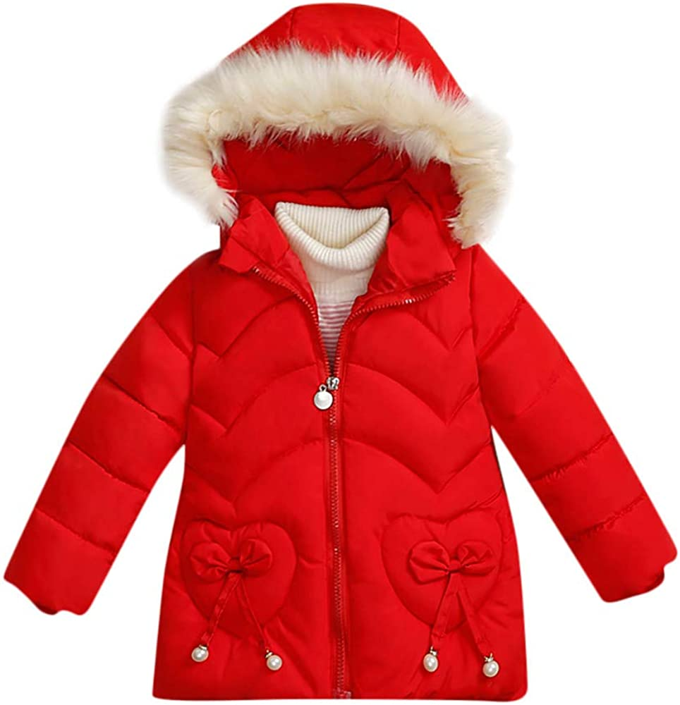 WARMSHOP Fashion Toddler Boys and Girls Winter Hooded Jacket for 0-4T