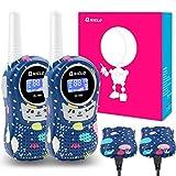 Qniglo Walkie Talkies Kids Adults 22 Channel Long Range 2 Way Radio Rechargeable Walkie Talkies(Blue,2 PCS)