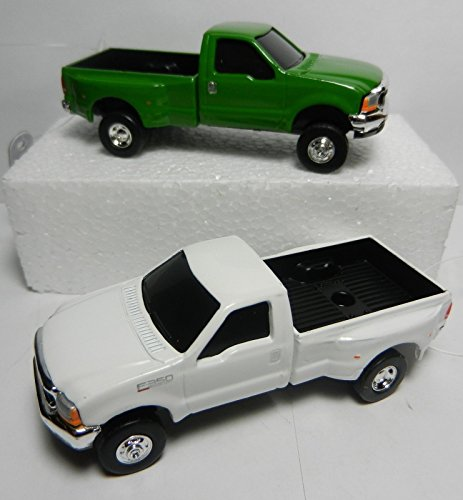 ERTL 1:64 GREEN & WHITE Ford F-350 Super Duty DUALLY Pickup Truck NEW (Die Cast Cabover compare prices)