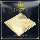 Barnabas Blattgold - Imitation Gold Leaf Sheets, 100 Sheets, 16x16cm, Interleaved