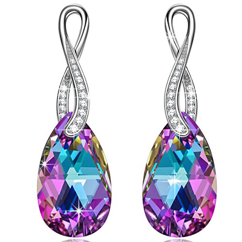 fc0ac8ab4 NINASUN Hypoallergenic Earrings for Women Wonderland 925 Sterling Silver  Teardrop Hook Dangle Earrings, Crystals from