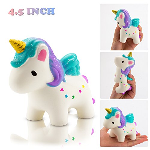 BeYumi Slow Rising Toy, Kawaii Star Unicorn Squishy Toy, Cream Scented Simulation Cute Animals Toys Gift for Kids Lovely Stress Relief Toy (Animal Simulation)