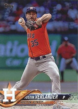 69416da18a4 Amazon.com  2018 Topps  650 Justin Verlander Astros Baseball ...