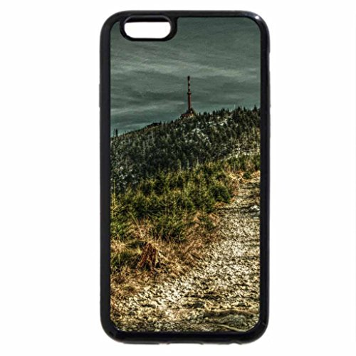 iPhone 6S / iPhone 6 Case (Black) tower on a mountain hdr