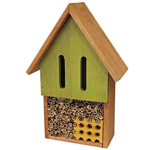 proheim Mini Insektenhotel 25 cm Bienenhotel aus Naturmaterialien Insektenhaus aus 100% FSC Holz Unterschlupf für Bienen, Käfer, Wespen und Schmetterlinge