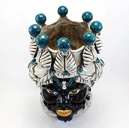 Testa Di Moro Ceramica Verus.Amazon Com Ceramic Head Statue Testa Di Moro Ceramica Siciliana