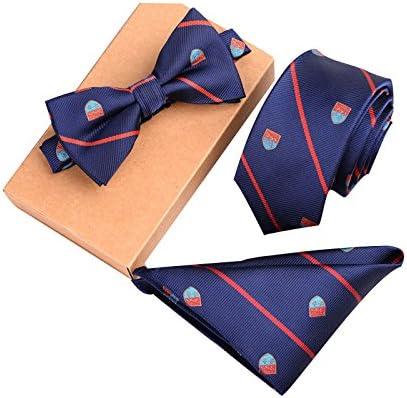 Bow Tie Set Skinny Cravatte Borsa Piazza Bowtie Matrimonio per Gli Uomini #1 Asciugamano Dastrues Fashion Poliestere Seta Cravatte Borsa