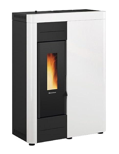 Estufa de pellets kW.15,50 Virna Idro Blanca Nordica Extraflame