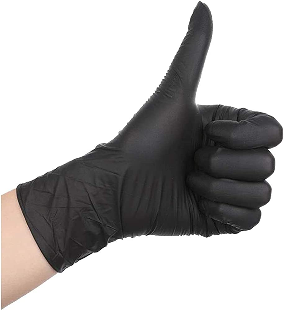 100 Pcs Disposable Gloves - Nitrile and Vinyl Blend - Latex and Powder Free - Thick Multipurpose Working Gloves