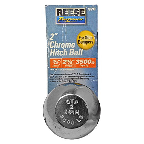 Reese Towpower qualitykeylessplus 70290 2″ Chrome Hitch Ball For Step Bumpers