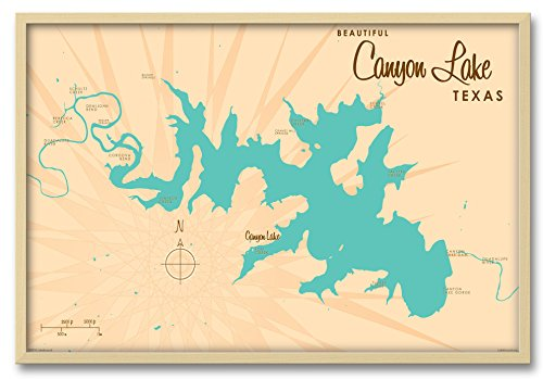 Northwest Art Mall Canyon Lake Texas Map Professionally Fram