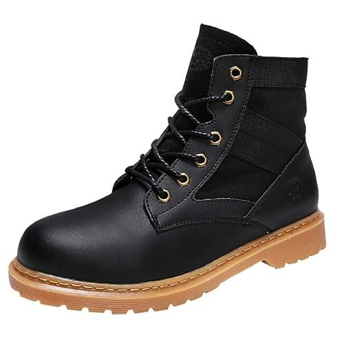 QUICKLYLY Botas para Hombre Calzado De Protección Zapatos Transpirables para Deportes De Moda para Correr Casuales Salvajes: Amazon.es: Zapatos y ...