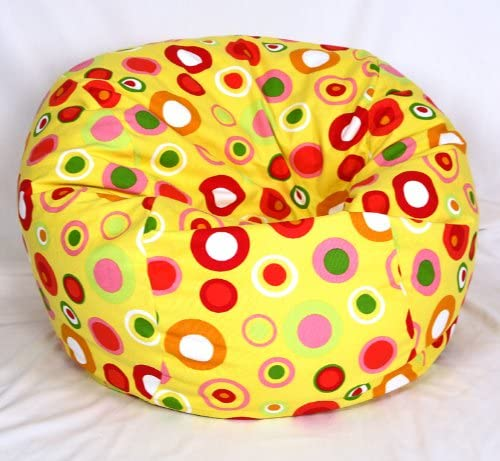 Ahh Products Bubbly Citrus Cotton Washable Large Bean Bag Chair