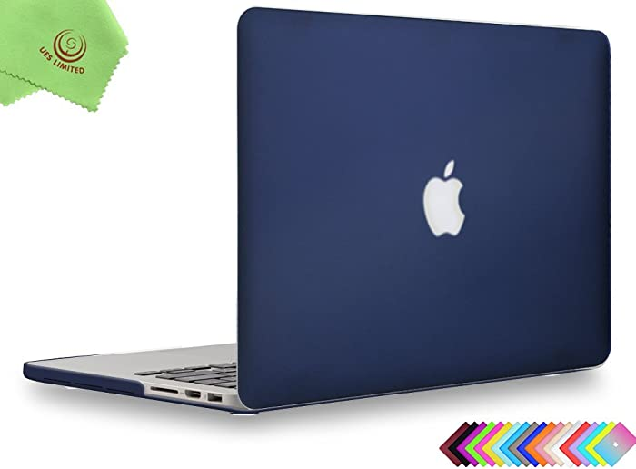 UESWILL Matte Hard Case for MacBook Pro (Retina, 13 inch, Late 2012/2013/2014/Early 2015), Model A1502/A1425, NO CD-ROM, No USB-C, Navy Blue