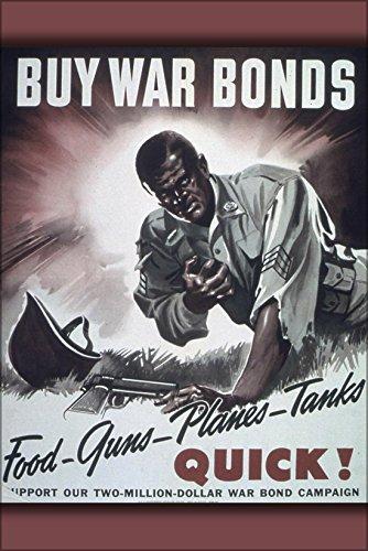War Bonds 1942 - 20x30 Poster; Food Guns Planes Tanks Quick! Buy War Bonds 1941-1945