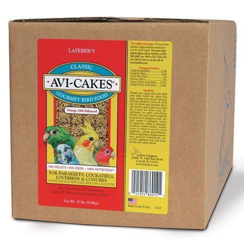LAFEBER'S Classic Avi-Cakes for Small Birds 20 lb by LAFEBER'S