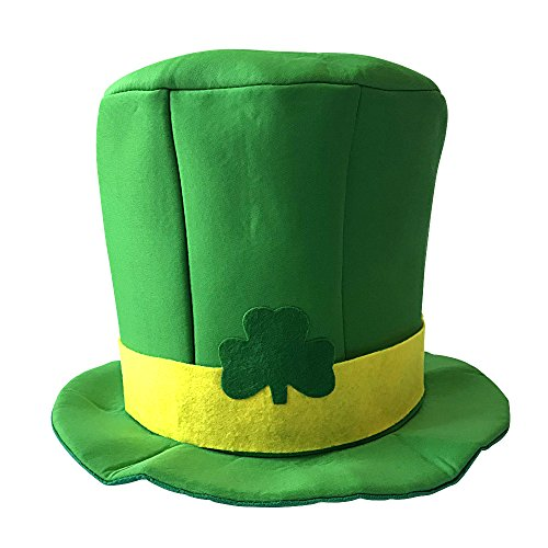 St. Patrick's Day Hat Shamrock Hat Green Top Hat for Women/Men/Kids St Patrick's Day Irish Themed Party -