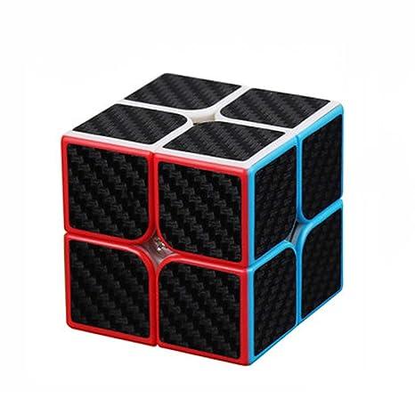 Axcone Cubo Fibra del Carbón Cubo mágico Cubo Puzzle Cubo Mágico Inteligencia Mágico Cubo Rompecabezas y