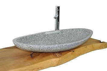 Waschbecken Aus Naturstein Model Monaco Gross Weiss G603 80x38cm