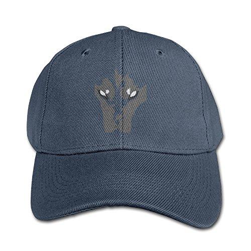 Kids Cool Siberian?husky Face Adjustable Baseball Custom Peak Cap Navy