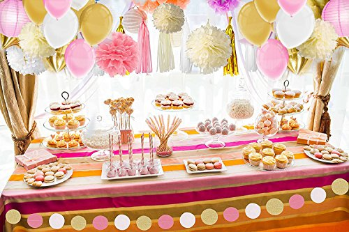 Party Decorations Tissue Pom Poms Paper Tassel Garland And
