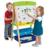 Crayola Draw 'N Store Wood Easel, Convertible Art Easel & Accessories