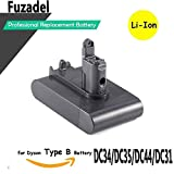 FUZADEL 2200mAh 22.2v Battery Replacement for Dyson dc44 Animal Cordless Vacuum Battery Pack DC35 DC34 DC31 DC44 DC45(Only Fit Type B) DC44 MK2 917083-01 Handheld Vacuum Cleaner