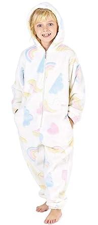 b9c0303b56f78 CityComfort Combinaison Pyjama Enfant Fille Onesie Licorne S Allume dans Le Noir  Arc en Ciel