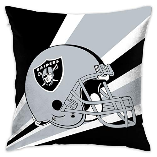 Marrytiny Custom Pillowcase Colorful Oakland Raiders American Football Team Bedding Pillow Covers Pillow Cases for Sofa Bedroom Bedding Car Home Decorative - 18x18 Inches