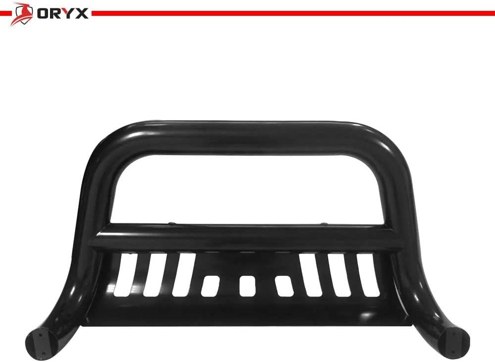 ORYX B1099LM Matte Black Carbon Steel Bull Bar Fits Chevy//GMC Silverado//Sierra 1500 1999-2006