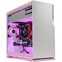 [Limited Pink Edition] SkyTech Venus Desktop Gaming Computer PC (Ryzen 3 1200, GTX 1060 3GB, 8GB DDR4, 120GB SSD, 1TB HDD, 500 Watts PSU, Win 10 Home, RGB Silent Fans) (GTX 1060 3G | 8GB | 120G SSD)