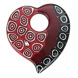 GlassOfVenice Murano Glass Elegant Millefiori Heart Pendant - Red and Black