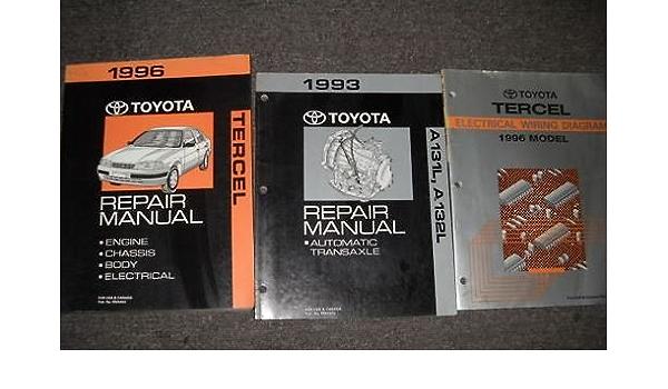 1996 Toyota Tercel Service Shop Repair Manual Set Oem Factory 3 Volume Set Toyota Amazon Com Books
