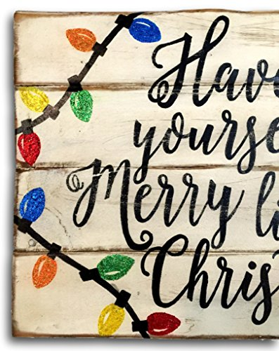 amazoncom have yourself a merry little christmas wood sign rustic christmas sign vintage christmas decor handmade - Merry Christmas Wooden Sign