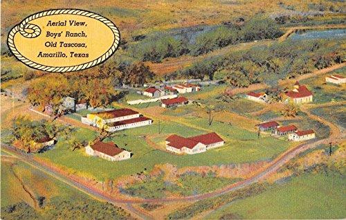 Amarillo Texas Boys' Ranch Old Tascosa Aerial View Antique Postcard V13789