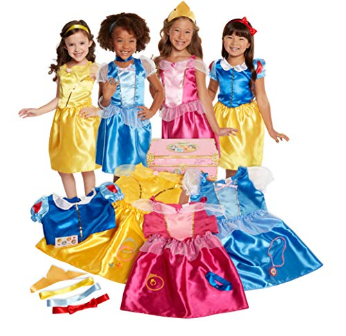 Disney Princess Dress Up Trunk Deluxe 21-Piece [Amazon Exclusive] (Dress Dresses Princess Up)