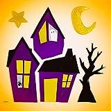 Design Ideas GelGems Halloween Themed Gel Window Clings (Haunted Hood, Large Bag)