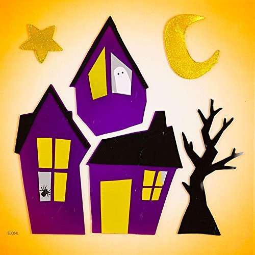 Design Ideas GelGems Halloween Themed Gel Window Clings (Haunted Hood, Large Bag)