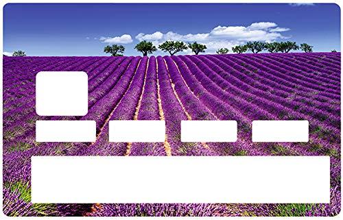 Diff/érenciez et d/écorez Votre Carte bancaire Suivant Vos Envies! sans Bulle Champs de Lavande Facile /à Poser Deco-idees Sticker pour Carte bancaire