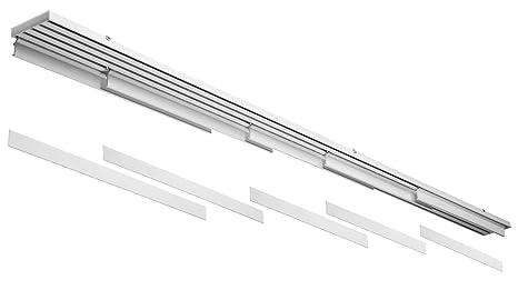 Bastone Per Tende A Pannello.Bastone Binario In Alluminio Bianco Per Tende A 5 Pannelli