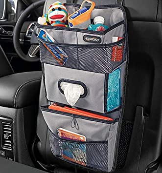 UNIVERSAL ORGANIZER CAR BACK SEAT FOR PHONE TISSUE CUP HOLDER STORAGE USA SELLER