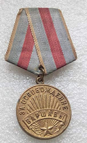 For the Liberation of Warsaw Original WW2 USSR Soviet Union Russian Military medal