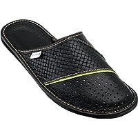 Estro Mens Slippers Men's Slipper Men House Shoes Leather Home Mule M66